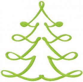 Christmas modern tree free embroidery design 2