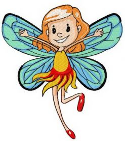 Summer time fairy machine embroidery design