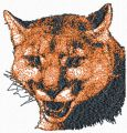 Cougar free photo stitch embroidery design