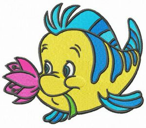 Flounder with flower