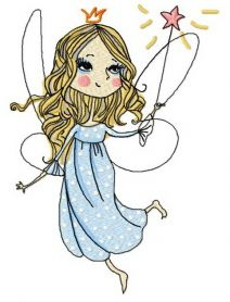 Charming fairy 3 machine embroidery design