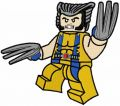 Lego Wolverine embroidery design