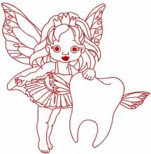 Redwork tooth fairy