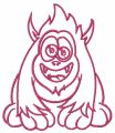 Horny pink monster 2 embroidery design