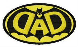 DAD Batman oval badge
