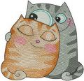 Cat's love 3 embroidery design