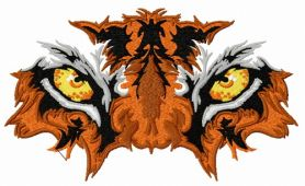 Tiger's eyes machine embroidery design