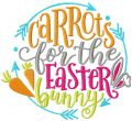 Carrots for Easter bunny decor embroidery design