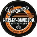 Harley Davidson Record logo embroidery design