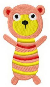 Sock doll bear machine embroidery design
