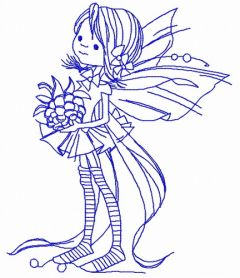 Berry fairy 2 machine embroidery design
