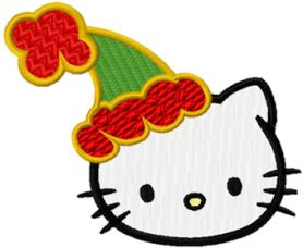 Hello Kitty Christmas Coming Soon machine embroidery design