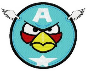 Angry Birds Blue 2 machine embroidery design