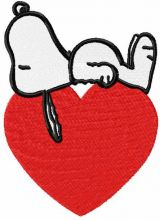 Sleeping Snoopy and heart