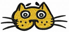 Cat mask machine embroidery design