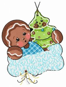 Gingerbread boy 5 machine embroidery design