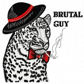 Brutal guy machine embroidery design