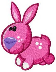 Tiny bunny machine embroidery design