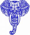 Tribal elephant 2 embroidery design