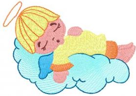 Sleeping angel free embroidery design 3