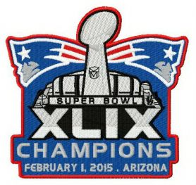 New England Patriots champions machine embroidery design