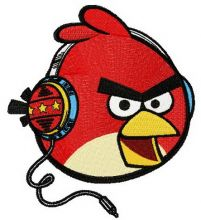Angry bird music fan