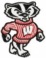 Bucky the Badger embroidery design