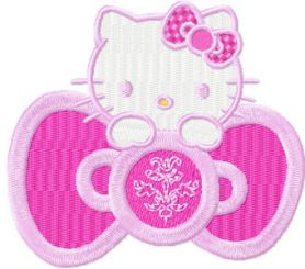 Hello Kitty Pink machine embroidery design