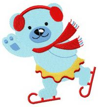 Blue bear skating 2