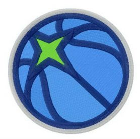 Minnesota Timberwolves alternative logo machine embroidery design