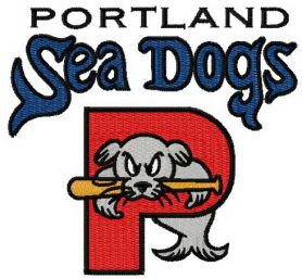 Portland sea dogs logo machine embroidery design