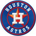 Houston Astros logo embroidery design