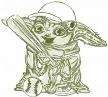 Yoda with baseball bat