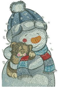 Teddy bear for snowman