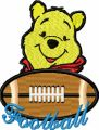 Winnie Pooh Football Logo embroidery design