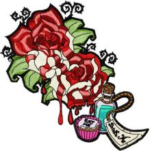 Tattoo roses with drink