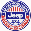 Jeep 4 x 4 logo embroidery design