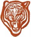 Tribal tiger free machine embroidery design 3