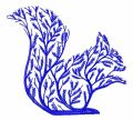 Tree squirrel embroidery design
