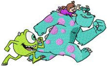 Boo, Mike and Sulley