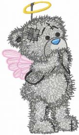 Teddy Angel machine embroidery design