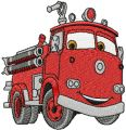 Red Fire Truck embroidery design