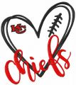 Love Chiefs embroidery design