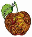Mosaic apple embroidery design