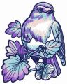 Nightingale embroidery design