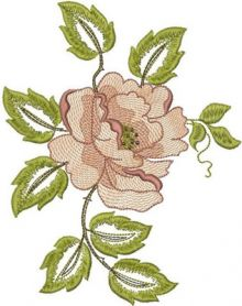 Rose free flower machine embroidery design