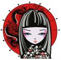 Japanese girl 3 embroidery design