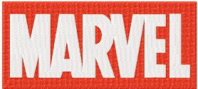 Marvel comics logo machine embroidery design