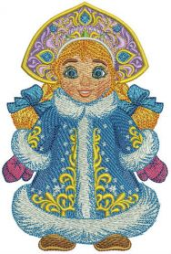 Snegurka machine embroidery design