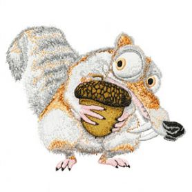 Scrat machine embroidery design